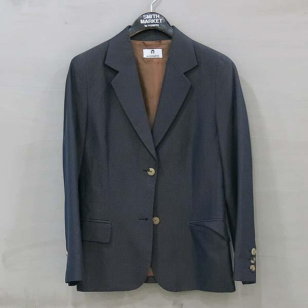 Aigner(아이그너) 레이온 혼방 블루 브라운 여성용 자켓 [부산센텀본점]