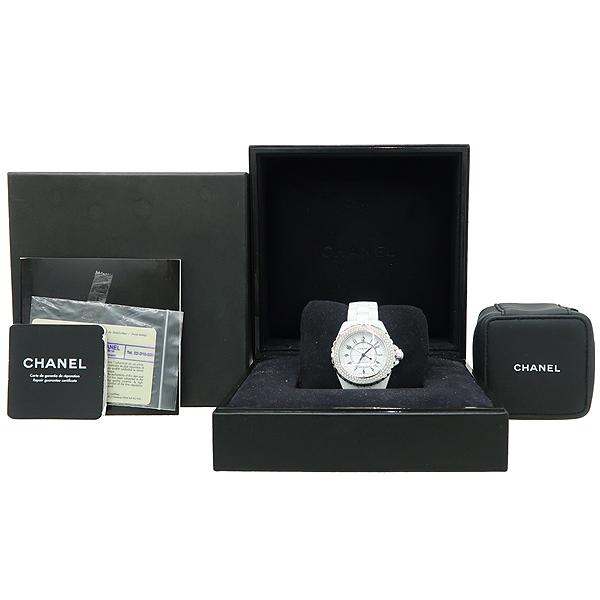 Chanel(샤넬) H0969 J12 38MM 베젤 다이아 오토매틱 화이트 세라믹 오토매틱 시계 [강남본점]