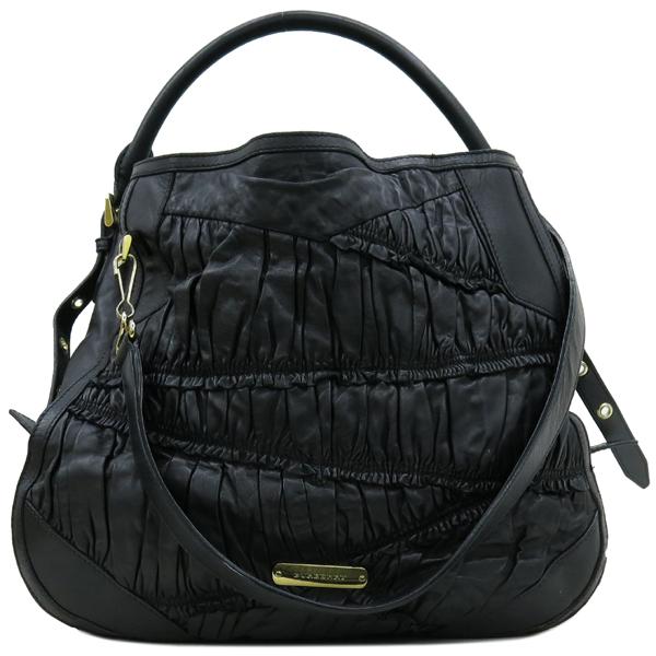 Burberry(버버리) HB37729781 금장 로고 장식 블랙 레더 호보 숄더백 + 스트랩 [강남본점] 이미지2 - 고이비토 중고명품