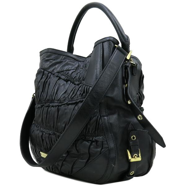 Burberry(버버리) HB37729781 금장 로고 장식 블랙 레더 호보 숄더백 + 스트랩 [강남본점] 이미지3 - 고이비토 중고명품