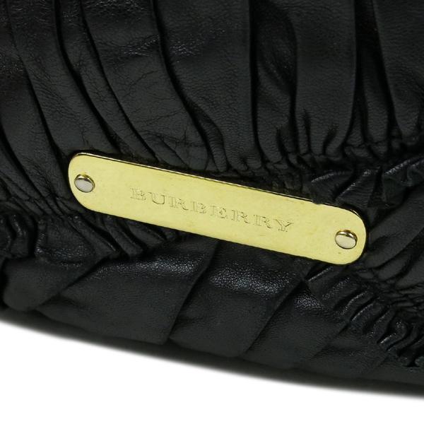 Burberry(버버리) HB37729781 금장 로고 장식 블랙 레더 호보 숄더백 + 스트랩 [강남본점] 이미지4 - 고이비토 중고명품