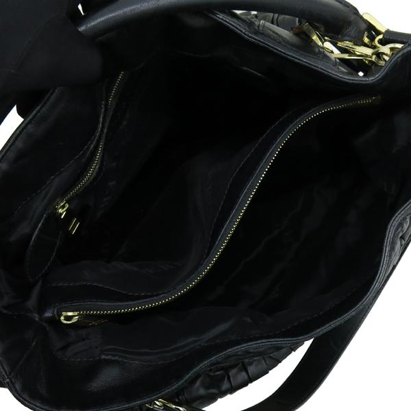 Burberry(버버리) HB37729781 금장 로고 장식 블랙 레더 호보 숄더백 + 스트랩 [강남본점] 이미지6 - 고이비토 중고명품