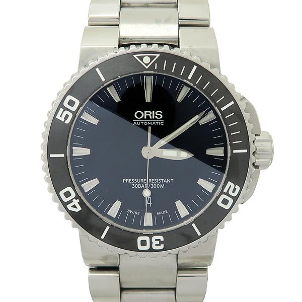 ORIS(오리스) 773 7653 41 DATE AQUIS(데이트 아퀴스) 스켈레톤 오토매틱 스틸 남성용 시계 [강남본점]