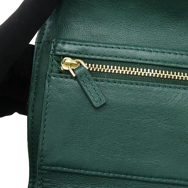 TORY BURCH(토리버치) 로고 장식 그린 레더 여성용 중지갑 [강남본점] 이미지3 - 고이비토 중고명품