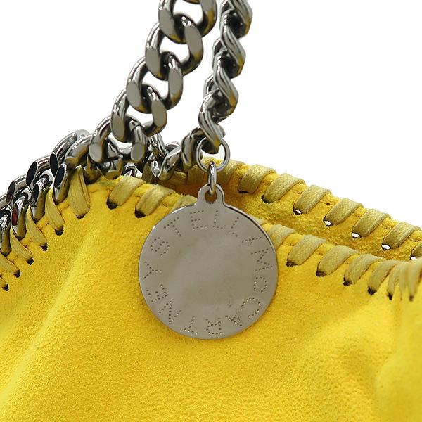 STELLA McCARTNEY (스텔라 맥카트니) 옐로우 컬러 스웨이드 팔라벨라 체인 숄더백 [강남본점] 이미지4 - 고이비토 중고명품
