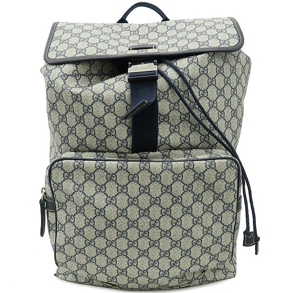Gucci(구찌) 246898 GG로고 PVC 다크블루 트리밍 원 포켓 백팩 [강남본점]