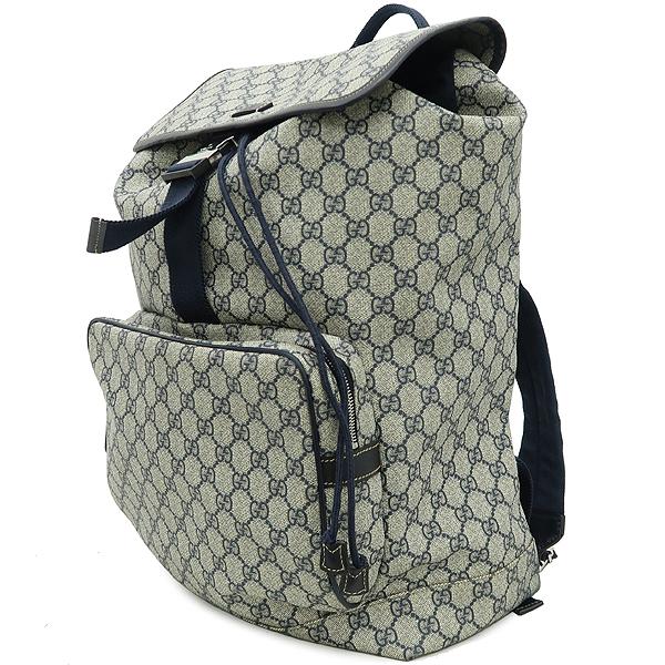 Gucci(구찌) 246898 GG로고 PVC 다크블루 트리밍 원 포켓 백팩 [강남본점] 이미지2 - 고이비토 중고명품
