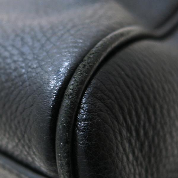 Prada(프라다) 1BB007 VIT.DAINO 블랙레더 은장로고 토트백 + 숄더스트렙 2WAY [인천점] 이미지4 - 고이비토 중고명품