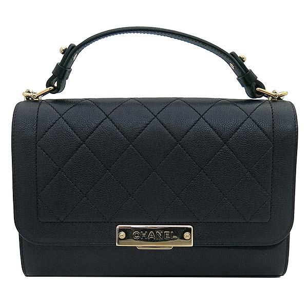 Chanel(샤넬) A93702Y61154  블랙 그레인드 카프스킨 핸들 플랩 2WAY [부산서면롯데점] 이미지2 - 고이비토 중고명품