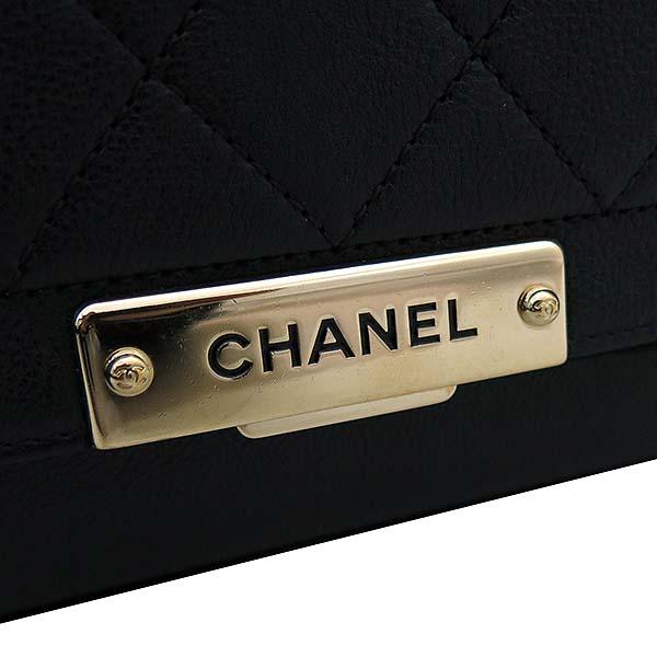 Chanel(샤넬) A93702Y61154  블랙 그레인드 카프스킨 핸들 플랩 2WAY [부산서면롯데점] 이미지4 - 고이비토 중고명품