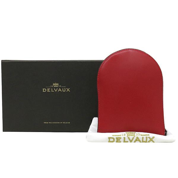 DELVAUX(델보) 레드 레더 케이스 패브릭 숄더백 [강남본점]