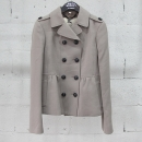 Burberry(버버리) 울 혼방 카키 컬러 여성용 더블 자켓 [동대문점]