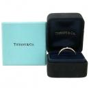 Tiffany(티파니) 18K 골드 Tiffany&Co 라운드 로고 브릴리언트 3포인트 다이아 4MM 반지