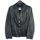 Ferragamo(페라가모) 카프 레더 블랙 컬러 여성용 자켓 [강남본점]