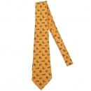 Hermes(에르메스) 오렌지 컬러 애니멀 패턴 실크 100% 넥타이 [대구반월당본점]
