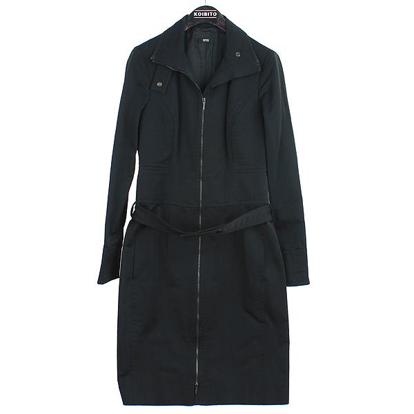 Hugo Boss(휴고보스) 블랙 컬러 트렌치 여성용 자켓(벨트set) [강남본점]