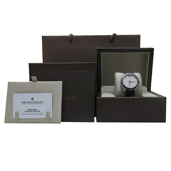 Baume&Mercier (보메 메르시에) MOA10337 화이트 다이얼 오토메틱 레더 밴드 Clifton 42MM 남성용 시계 [인천점]