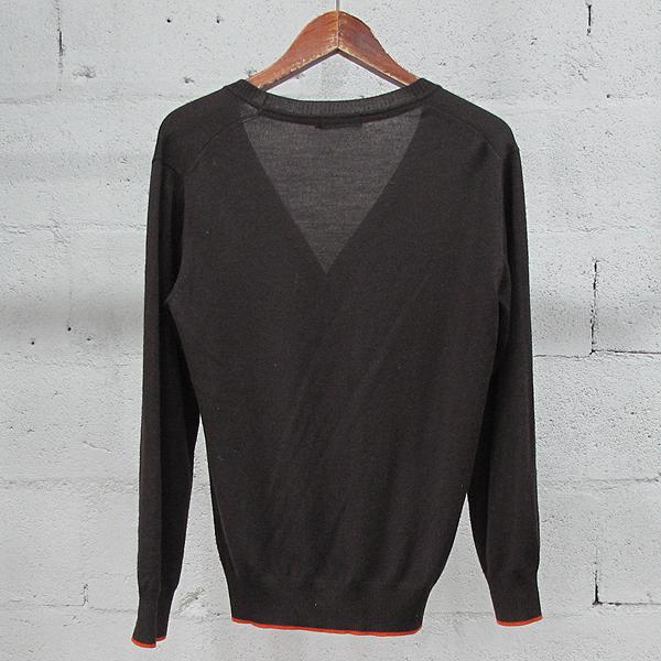 Burberry(버버리) 블랙 라벨 울 100% 브라운 컬러 로고 자수 장식 남성용 가디건 [동대문점] 이미지3 - 고이비토 중고명품