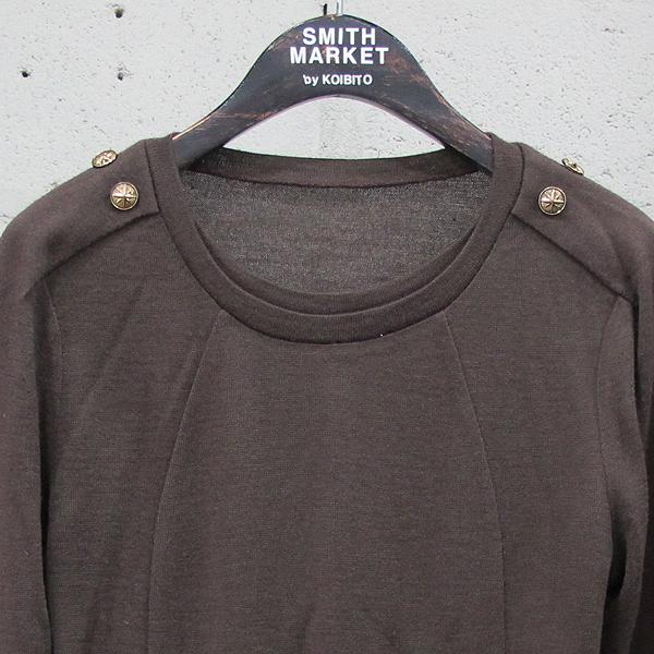 System(시스템) 울 혼방 브라운 컬러 금장 버튼 장식 여성용 티셔츠 [동대문점] 이미지2 - 고이비토 중고명품