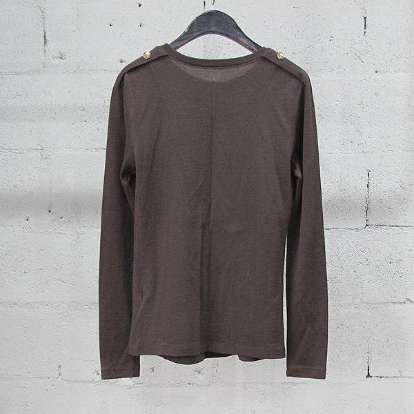 System(시스템) 울 혼방 브라운 컬러 금장 버튼 장식 여성용 티셔츠 [동대문점] 이미지3 - 고이비토 중고명품