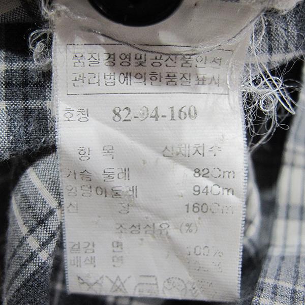 System(시스템) 면 100% 그레이 컬러 포켓 장식 여성용 체크 남방 [동대문점]