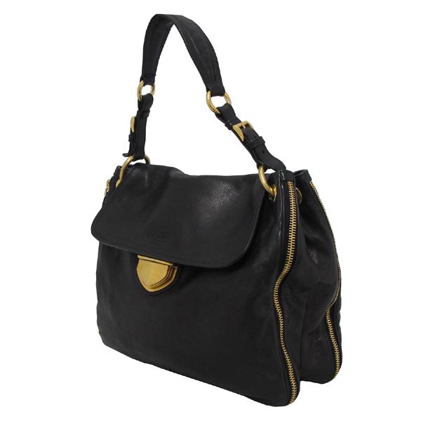 Prada(프라다) BR4761 금장 로고 장식 블랙 레더 여성용 숄더백 [대구반월당본점] 이미지3 - 고이비토 중고명품