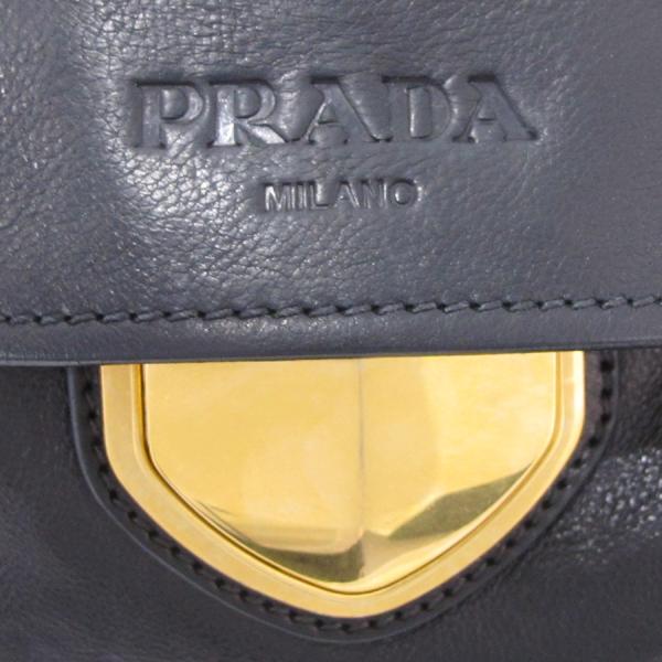 Prada(프라다) BR4761 금장 로고 장식 블랙 레더 여성용 숄더백 [대구반월당본점] 이미지5 - 고이비토 중고명품