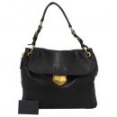 Prada(프라다) BR4761 금장 로고 장식 블랙 레더 여성용 숄더백 [대구반월당본점]