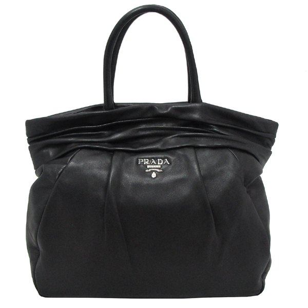 Prada(프라다) BN1689 은장 로고 장식 블랙 램스킨 여성용 토트백 [대구반월당본점] 이미지2 - 고이비토 중고명품