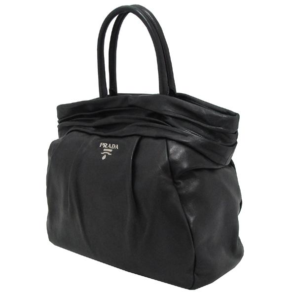 Prada(프라다) BN1689 은장 로고 장식 블랙 램스킨 여성용 토트백 [대구반월당본점] 이미지3 - 고이비토 중고명품