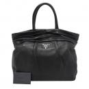 Prada(프라다) BN1689 은장 로고 장식 블랙 램스킨 여성용 토트백 [대구반월당본점]