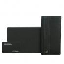 Dupont(듀퐁) 99904 블랙 레더 은장 로고 장지갑 [동대문점]