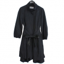 System(시스템) 폴리 혼방 네이비 컬러 여성용 코트 + 허리끈 SET [강남본점]