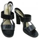 YSL(입생로랑) 블랙 크로커다일 패턴 여성용 샌들 [강남본점]