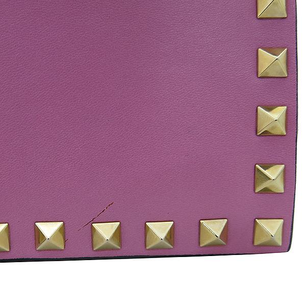 VALENTINO(발렌티노) IW2B0399NBD 핑크 레더 가라바니라인 락스터드 클러치백 [부산센텀본점] 이미지5 - 고이비토 중고명품