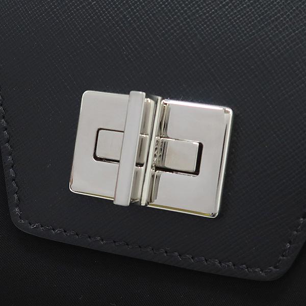 Prada(프라다) 1BA005 사피아노 + 테수토 블랙 탑 핸들 토트백 [강남본점] 이미지4 - 고이비토 중고명품