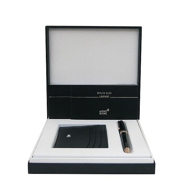 Montblanc(몽블랑) 113391 90주년 164 마이스터 스튁 금장 블랙 볼펜+카드지갑 세트 [부산센텀본점]