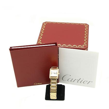 Cartier(까르띠에) 탱크 18K 옐로우 골드 금통 베젤 두줄 다이아 쿼츠 남성용 시계 (W) 이미지2 - 고이비토 중고명품