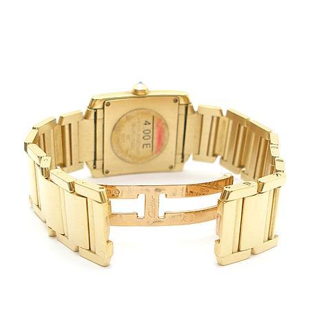 Cartier(까르띠에) 탱크 18K 옐로우 골드 금통 베젤 두줄 다이아 쿼츠 남성용 시계 (W) 이미지4 - 고이비토 중고명품