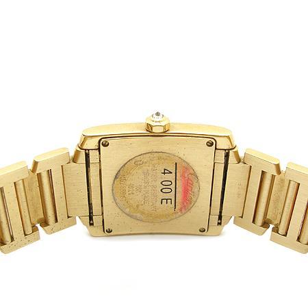Cartier(까르띠에) 탱크 18K 옐로우 골드 금통 베젤 두줄 다이아 쿼츠 남성용 시계 (W) 이미지5 - 고이비토 중고명품