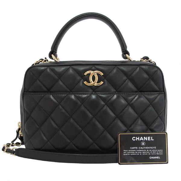 Chanel(샤넬) A69924 COCO 금장 로고 블랙 램스킨 Bowling(볼링) 금장 체인 2WAY [대구동성로점]