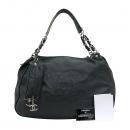 Chanel(샤넬) 블랙 레더 빅 로고 은장체인 빅 숄더백 + 보조 파우치 [부산센텀본점]
