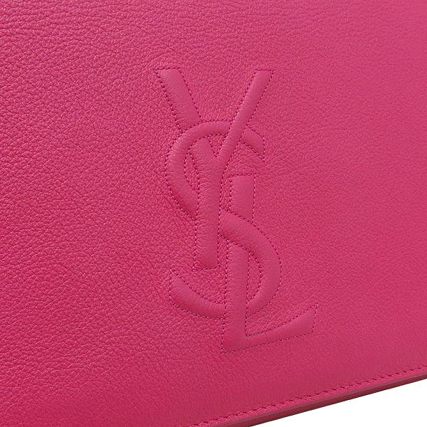 YSL(입생로랑) 361120 핑크레더 로고 스티치 클러치 [강남본점] 이미지2 - 고이비토 중고명품