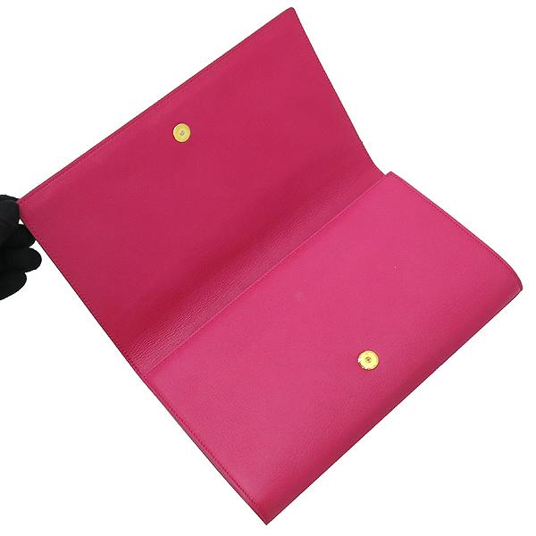 YSL(입생로랑) 361120 핑크레더 로고 스티치 클러치 [강남본점] 이미지4 - 고이비토 중고명품