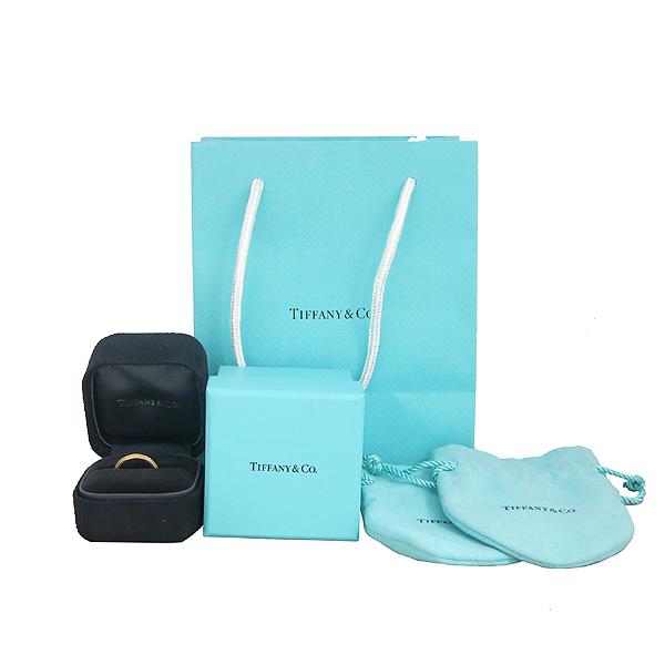 Tiffany(티파니) 18K 핑크 골드 밀그레인 클래식 3MM 반지-7.5호 [동대문점]