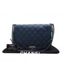 Chanel(샤넬) A92106 카프스킨 네이비 보이 샤넬 L 사이즈 퀼팅 체인 플랩 숄더백 [인천점]