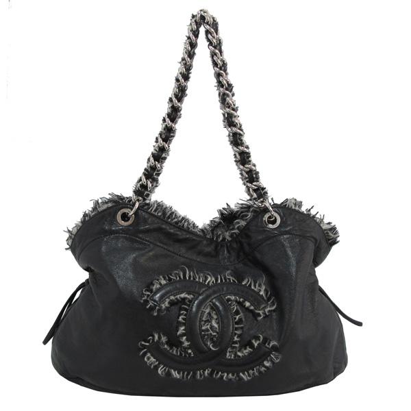 Chanel(샤넬) COCO 로고 장식 블랙 램스킨 은장 체인 숄더백 [대구반월당본점]