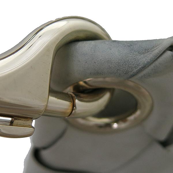 JIMMY CHOO(지미추) 아이보리 위빙 래더 뱀피네임텍 로고장식 호보 숄더백 [부산센텀본점] 이미지6 - 고이비토 중고명품