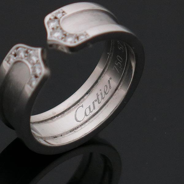 Cartier(까르띠에) B4044253 18K 화이트 골드 더블 C 링 다이아 웨딩밴드 반지-12호[인천점] 이미지4 - 고이비토 중고명품
