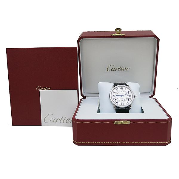 Cartier(까르띠에) W6701010 RONDE SOLO (론드 솔로) XL 오토매틱 가죽밴드 남성용 시계 [부산센텀본점]